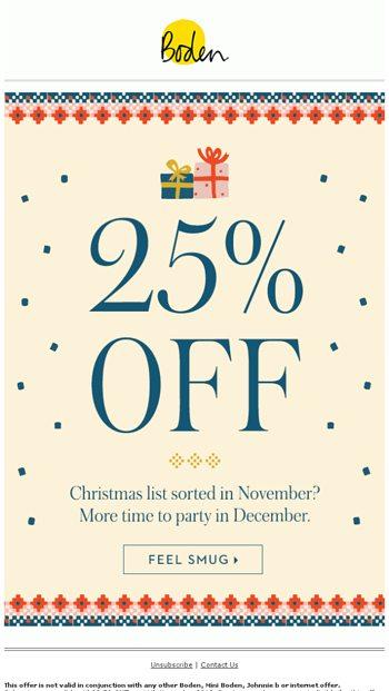 Boden discount code 25% Off
