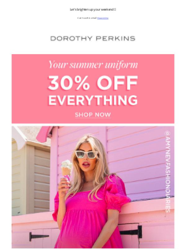 Dorothy perkins vouchers