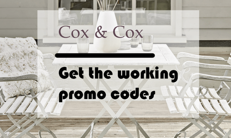 Cox and Cox discount code