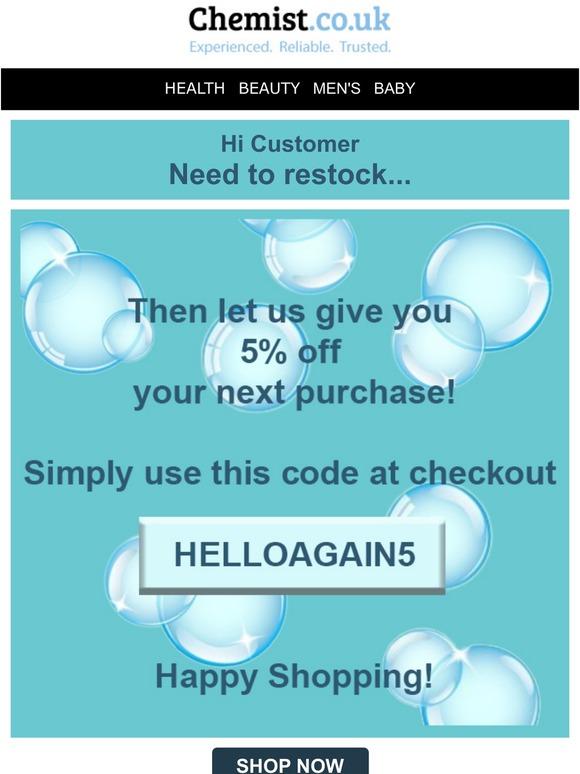 Chemist discount code